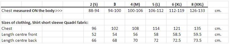 bioracer size chart