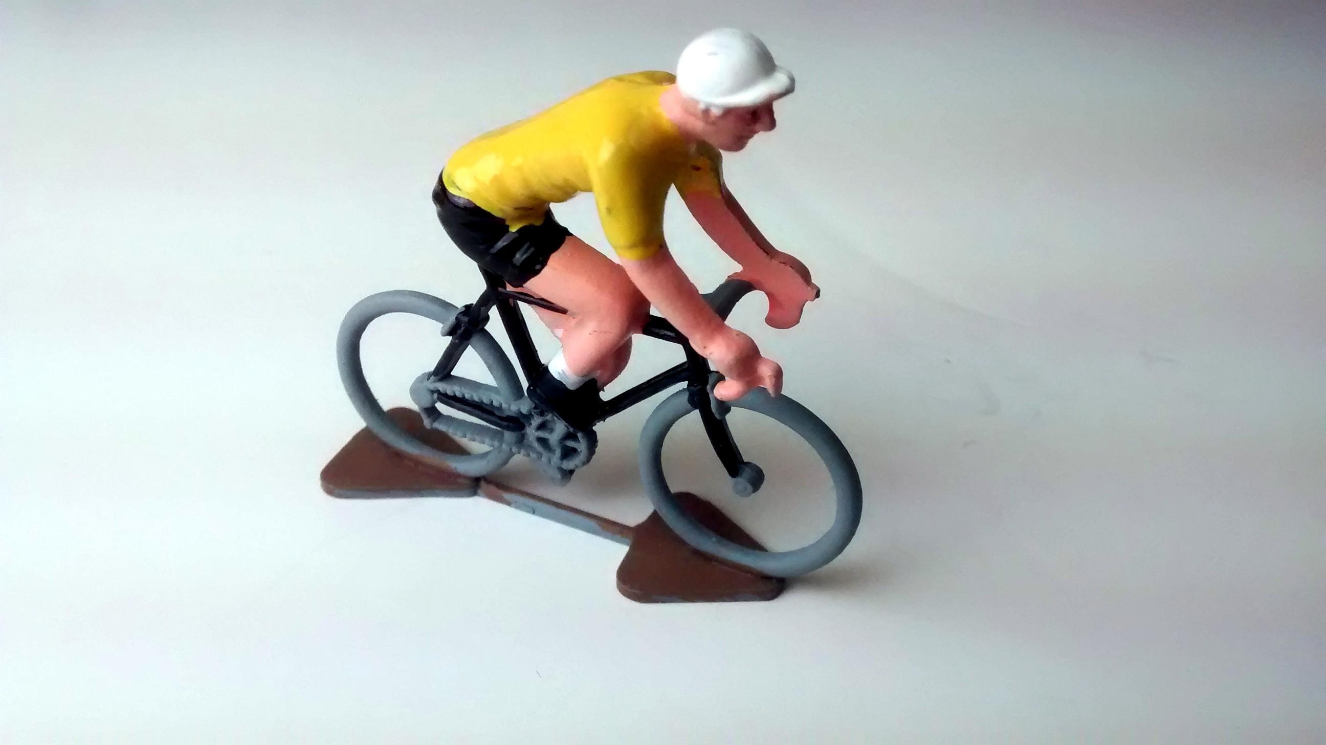 Yellow Jersey Miniature Cyclist