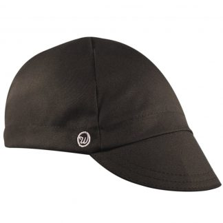 black cotton cycling cap
